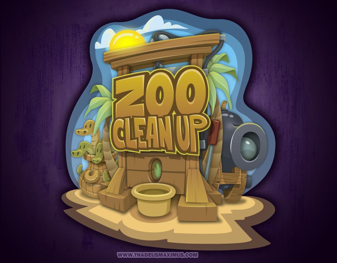 Zoo Clean Up: Game Logo