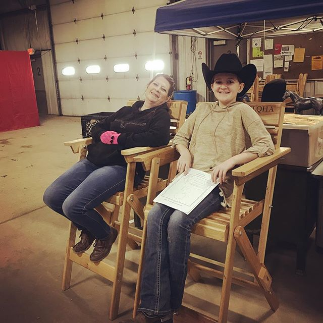taking advantage of the day off in our prize chairs! tomorrow kicks off the youth quarter horse show #ilqha #aqha #horseshows #thingstodoinillinois