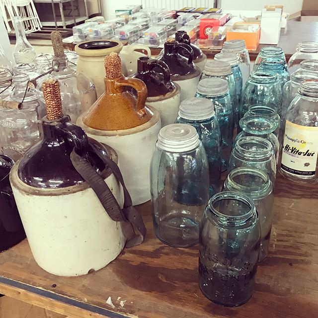 Not interested in toys? That's ok, check out these amazing #antiques that will be on our next online auction! Link to our auction website in bio  #collectables #jugs #masonjars #vintage #tins
