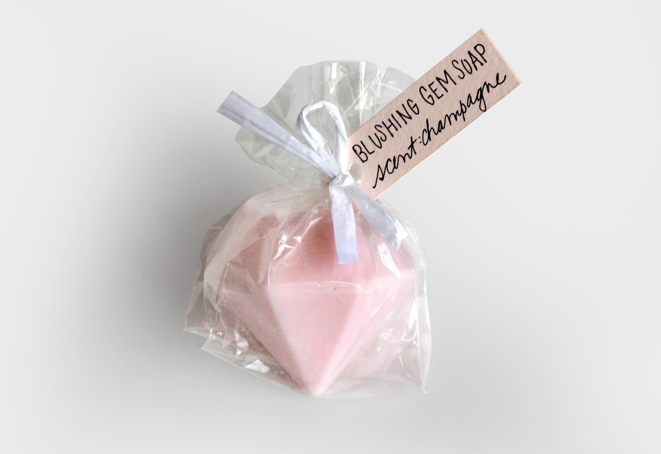 Blush Bridesmaids Gem Soap Thank You   Sugar & Gold