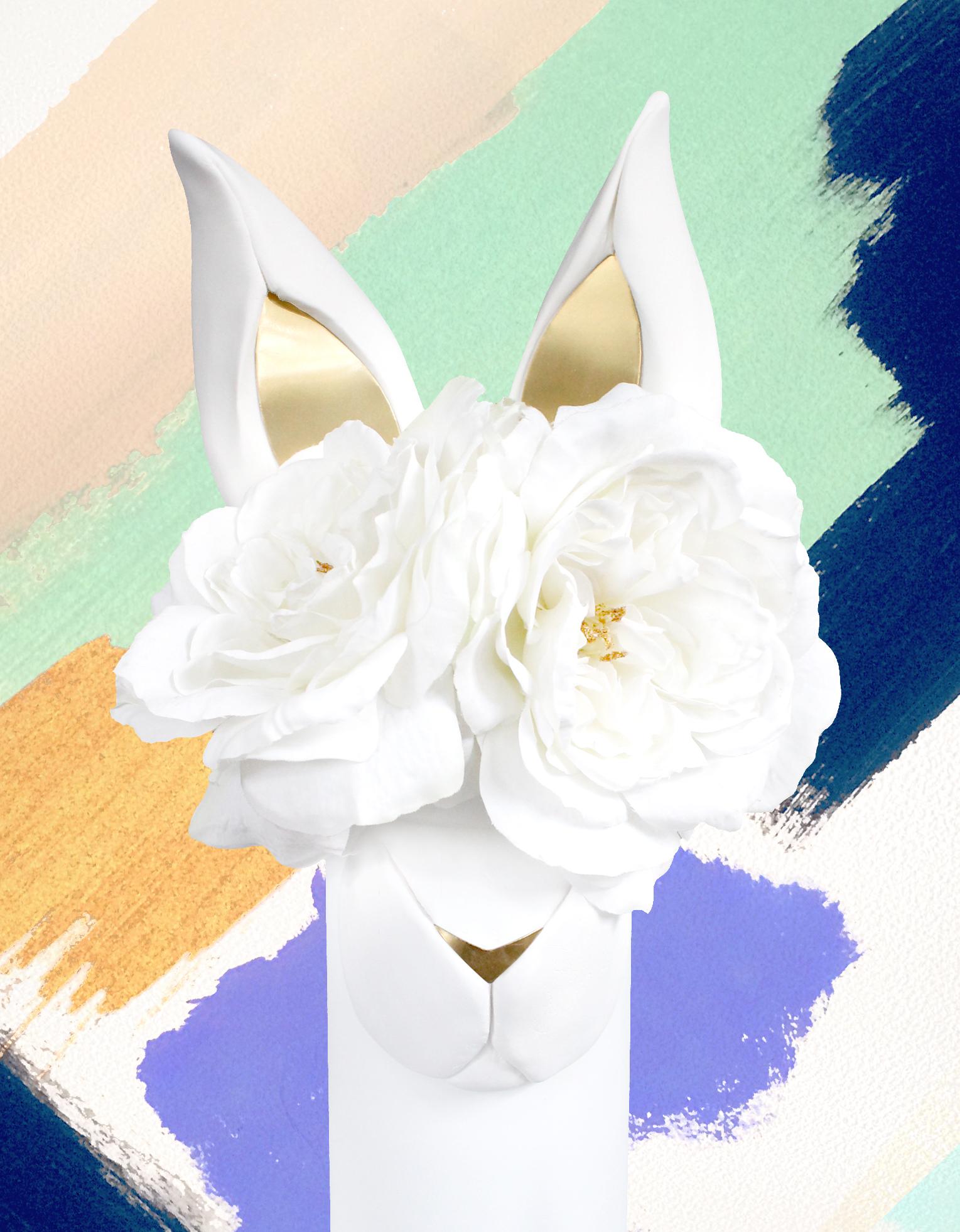 DIY Brass & Clay Bunny Vase | Some Bunny Loves Spring | Sugar & Gold