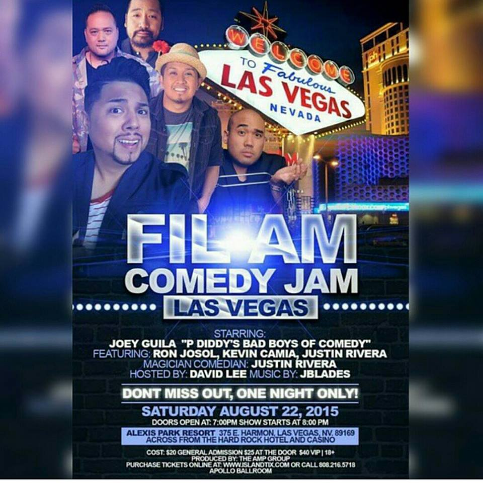 Vegas Tamz!! Aug 22 One Night Only at The Apollo Ballroom come get a pound of giggles & get your tix at www.islandtix.com