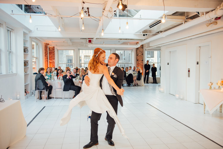 Our couple Lauren and Josh's first dance at Gary's Loft - photo by Jacob Arthur Studio