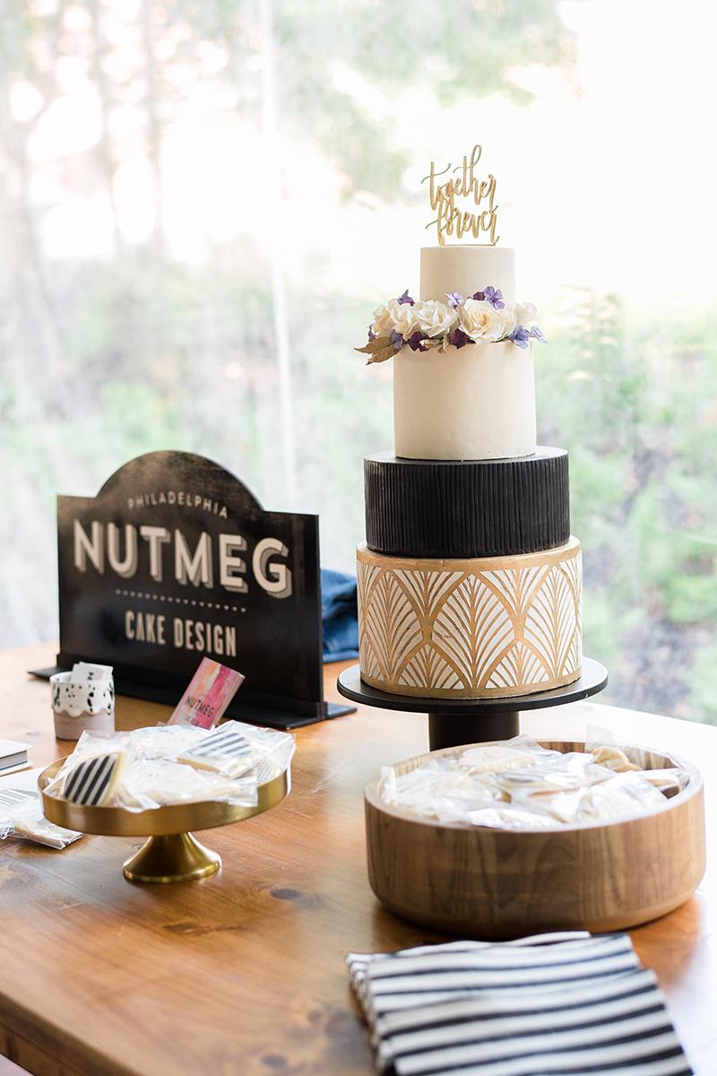 Art-deco inspired cake by Nutmeg Cake Design