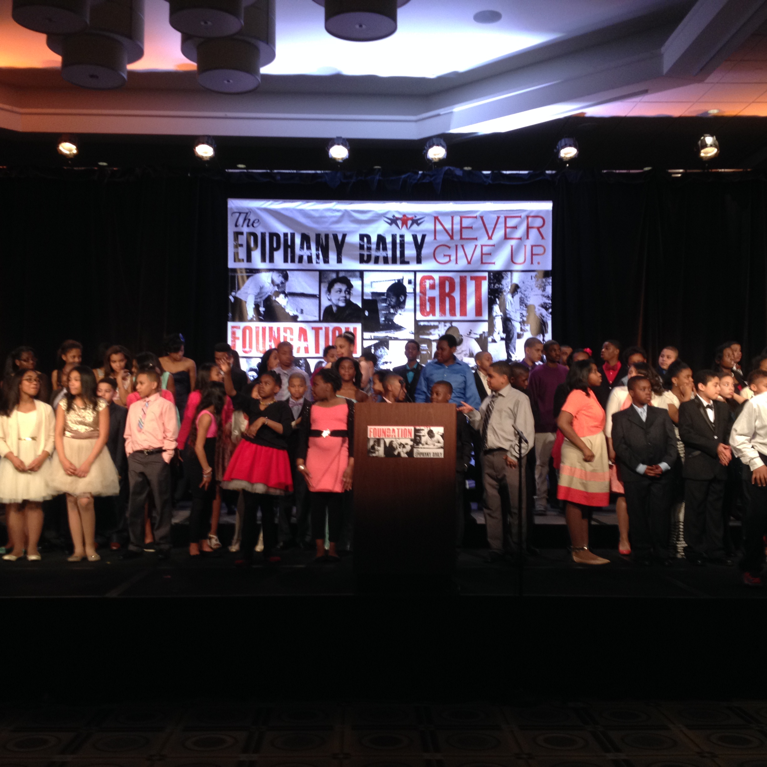 Epiphany school Students at the Gala
