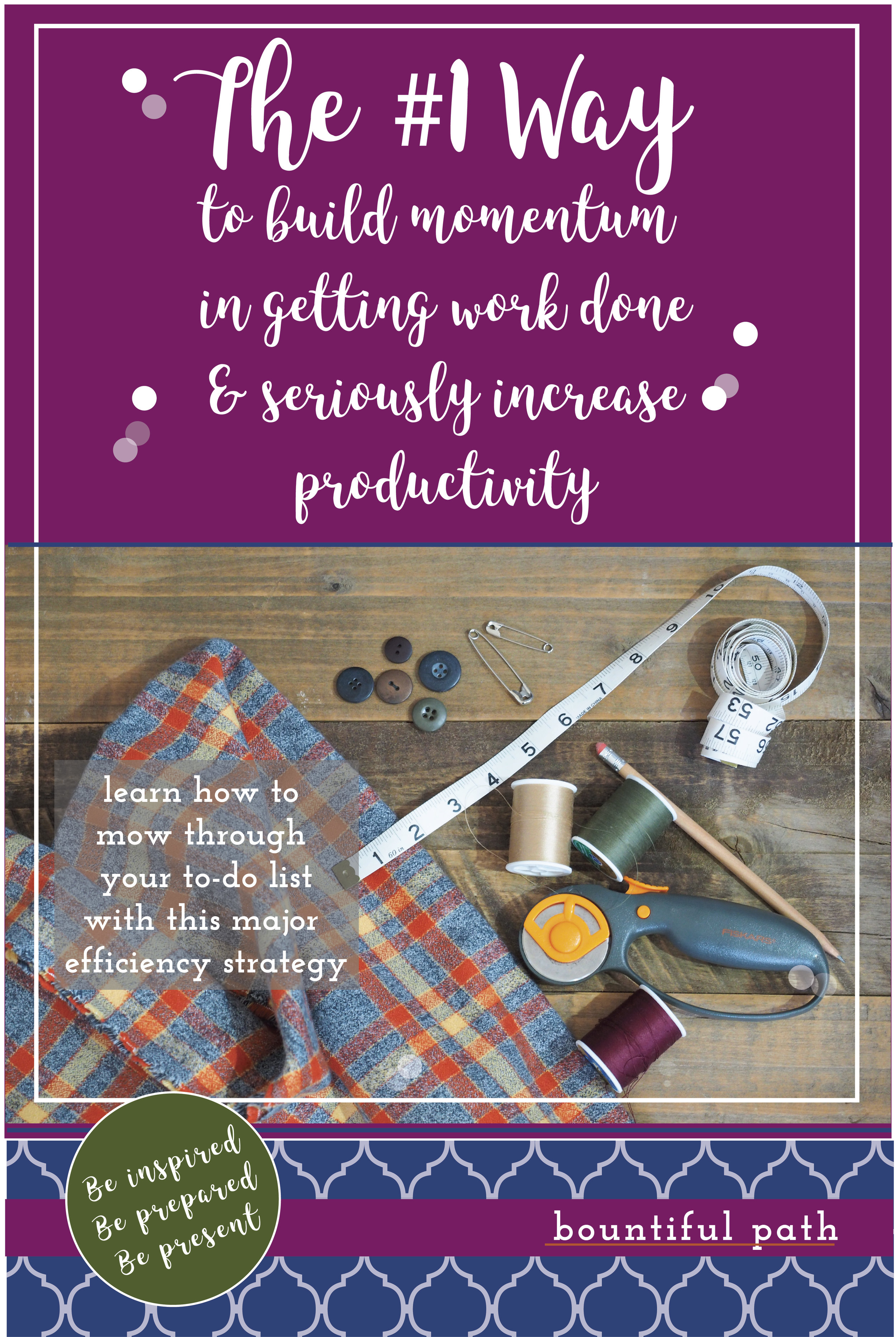 The #1 way to seriously increase your productivity and knock out your to-do list fast from bountiful Path: helping solopreneur moms to be put together in business and life