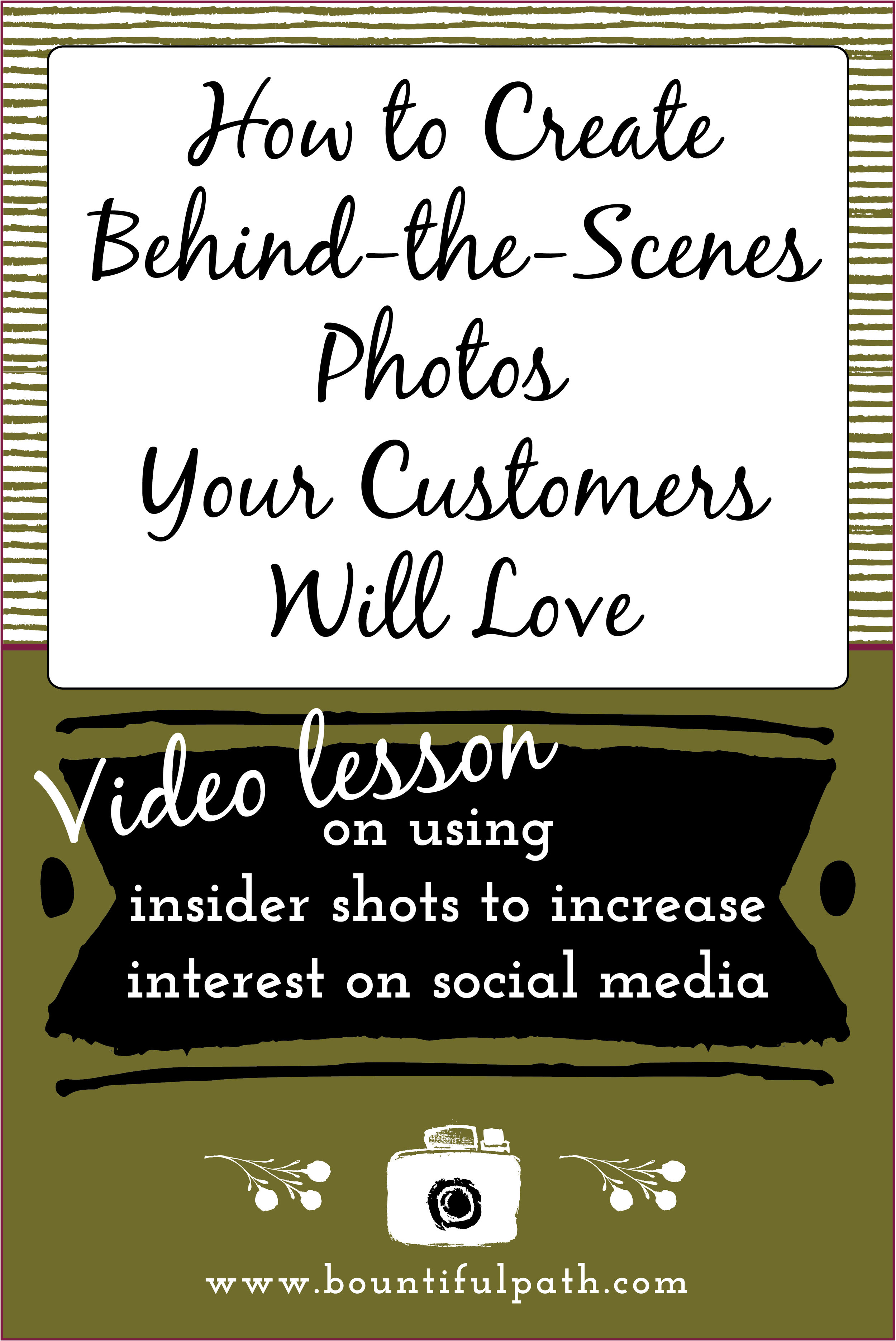 Learn how to engage your ideal customers on social media through behind the scenes photos of your business | Bountiful Path helping makers and creatives to visually connect with their ideal customers through photo & video