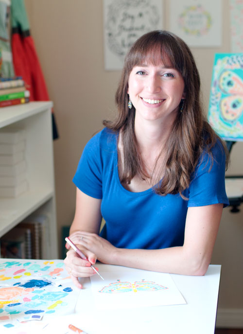 interview with painter Julie Marriott about developing your brand style and visual content strategy   Bountiful Path