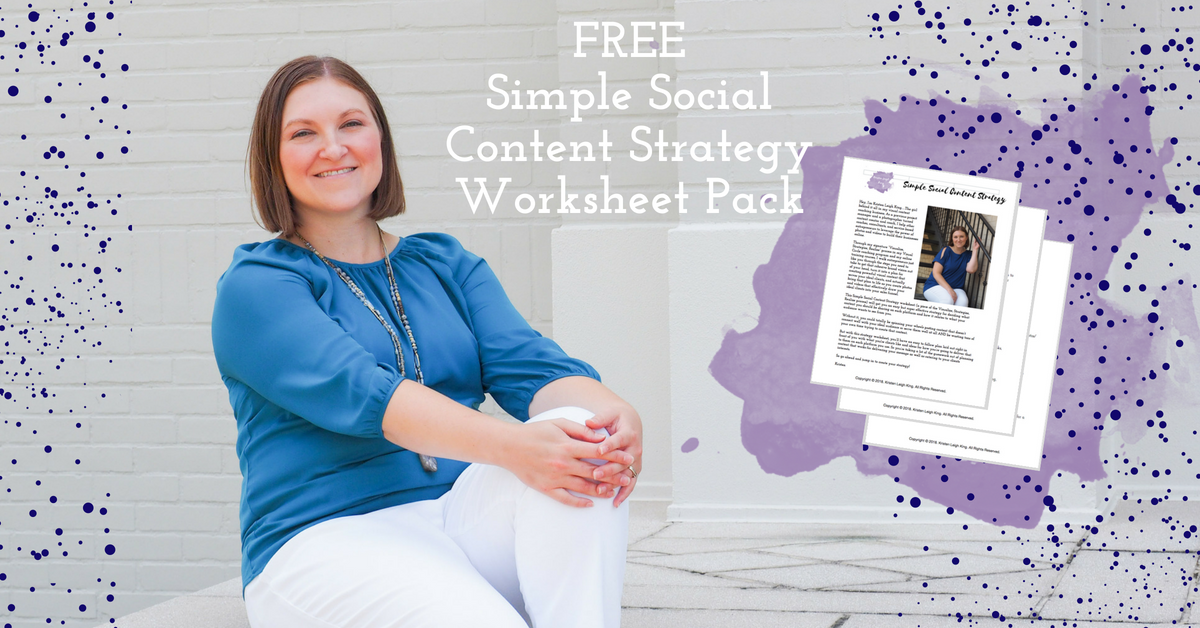 Free simple social strategy worksheet pack from Kristen Leigh King