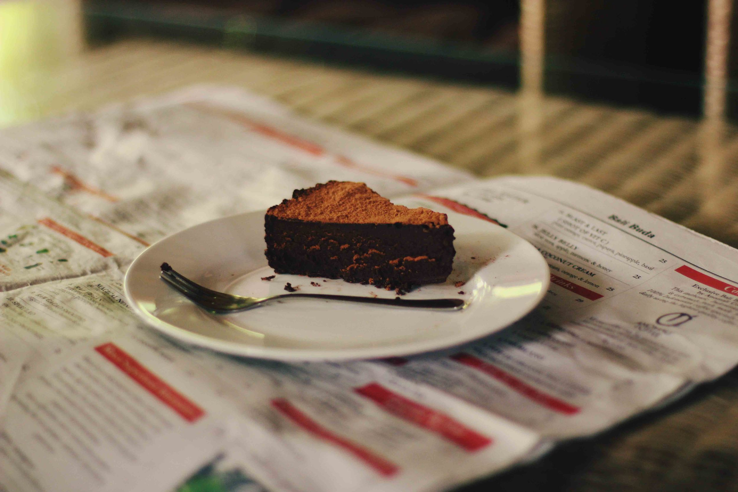 Chocolate Mousse Cake. Photo by Scarlett.