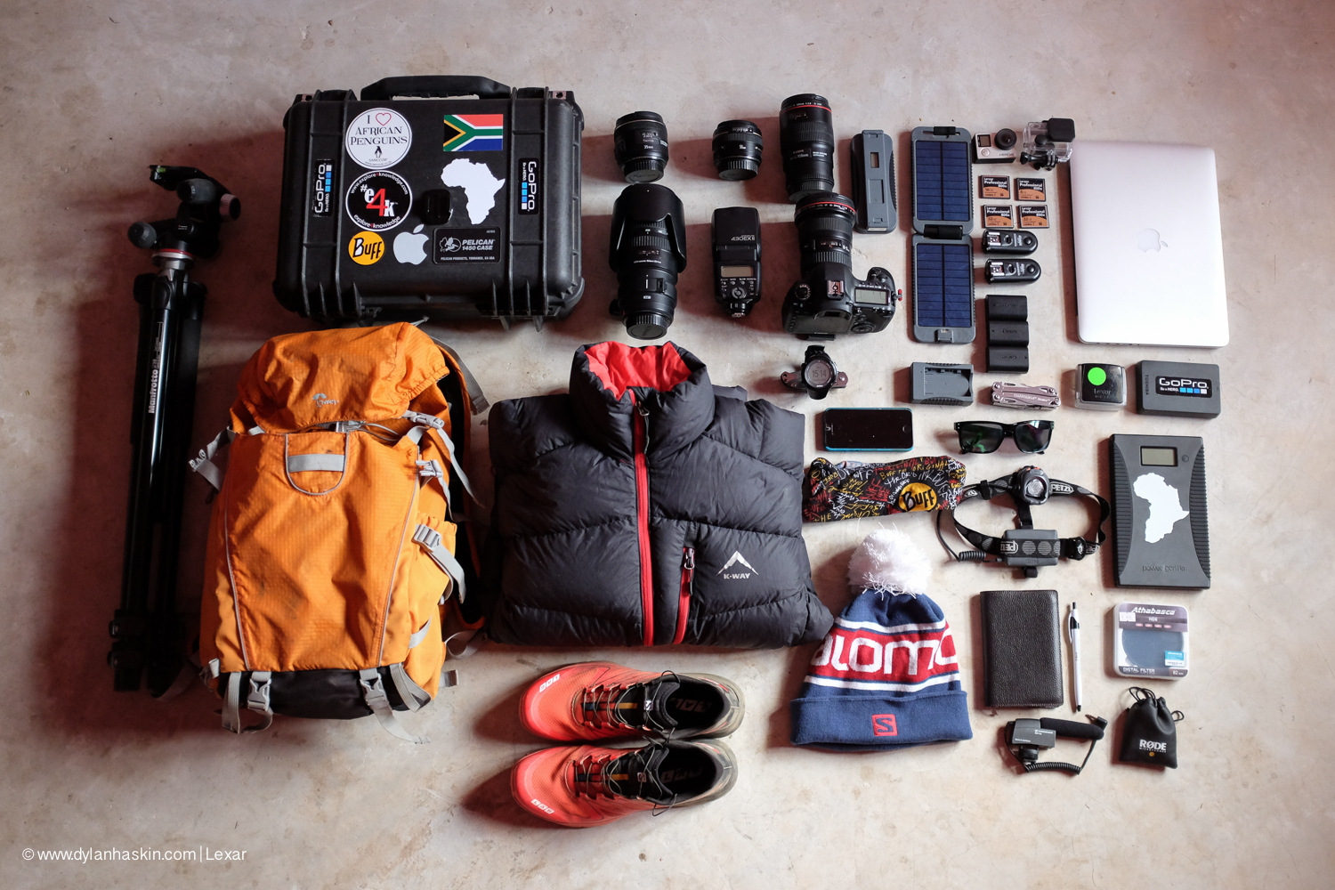 Gear check photo before I left