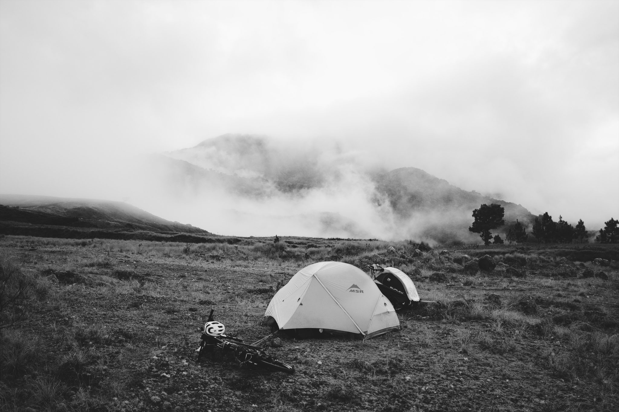 Camping on Volcan Baru