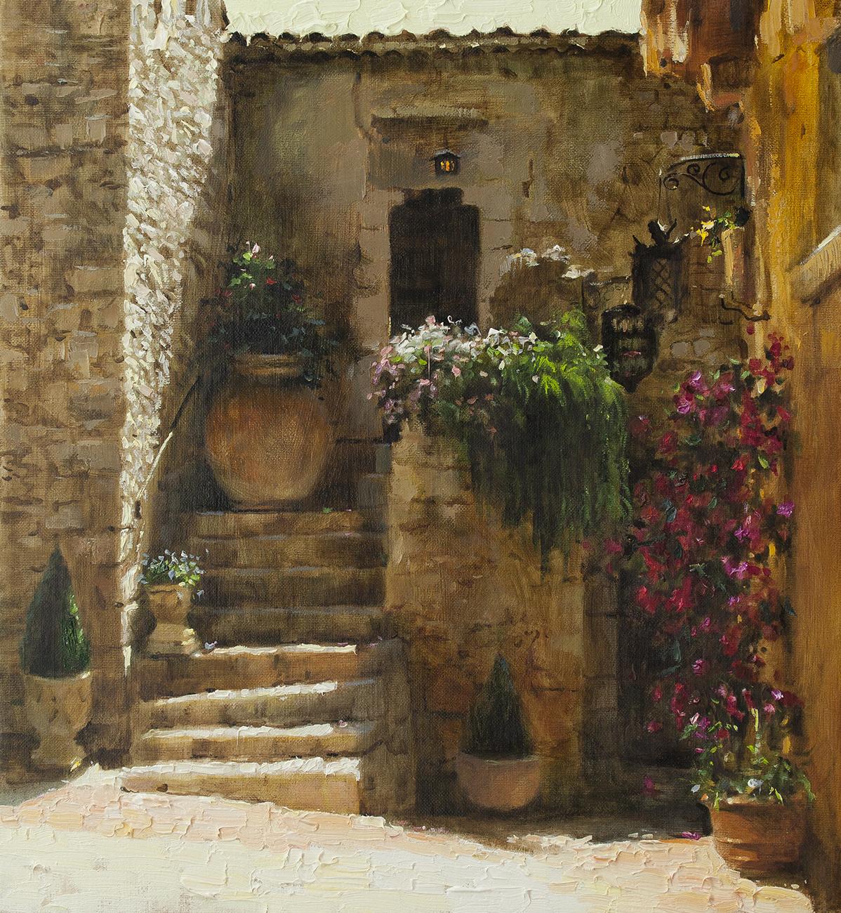 courtyard in eze