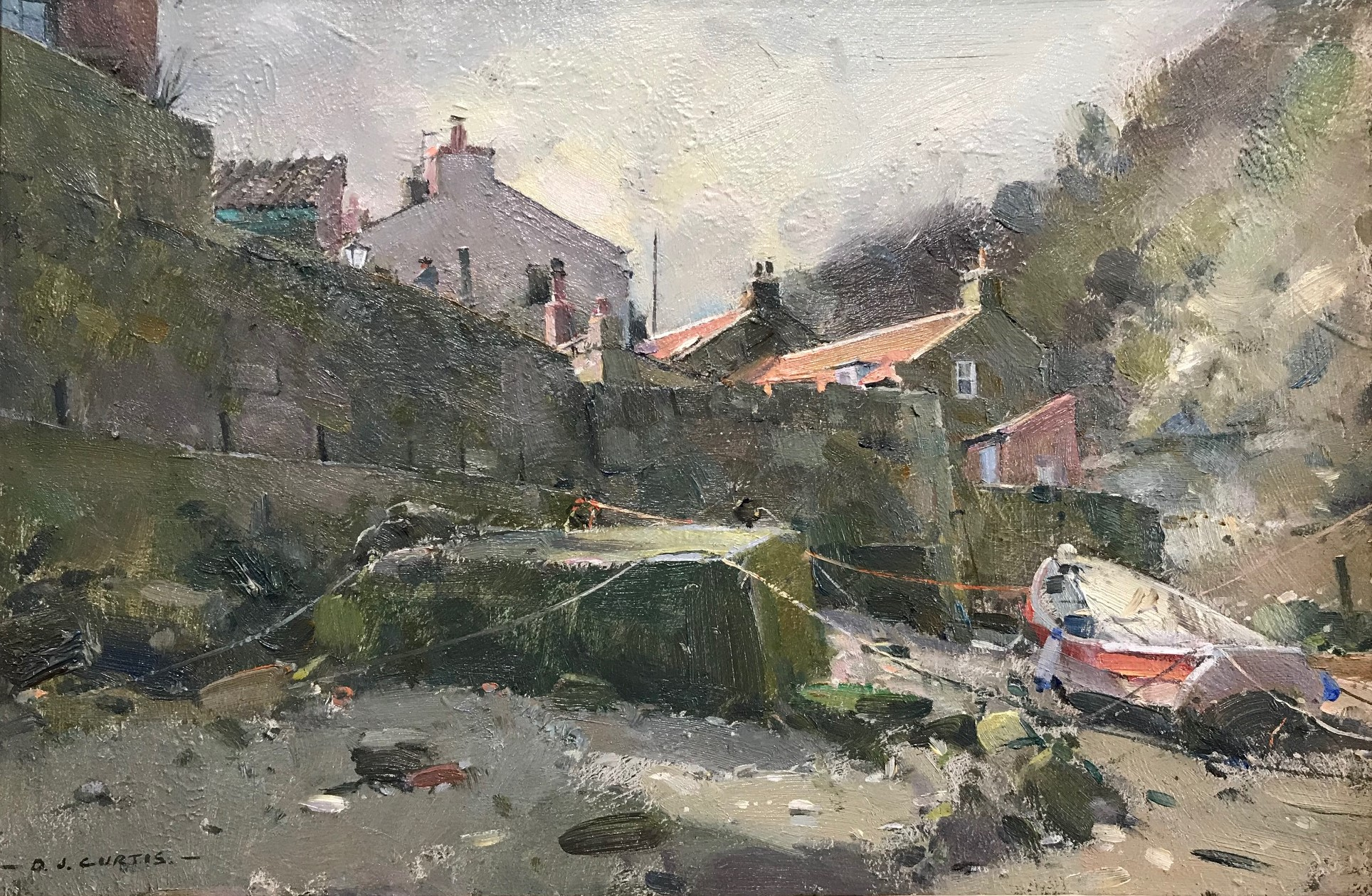 mooring in roxby beck, staithes