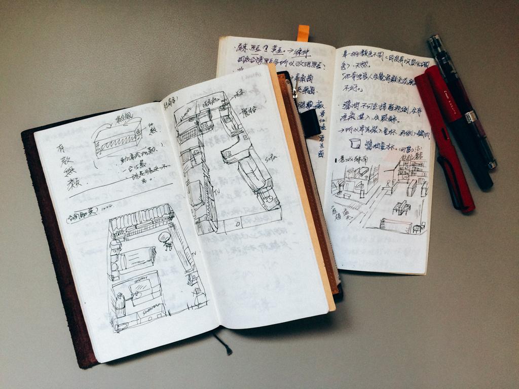 TN筆記本,雖薄但不透,隨身攜帶。