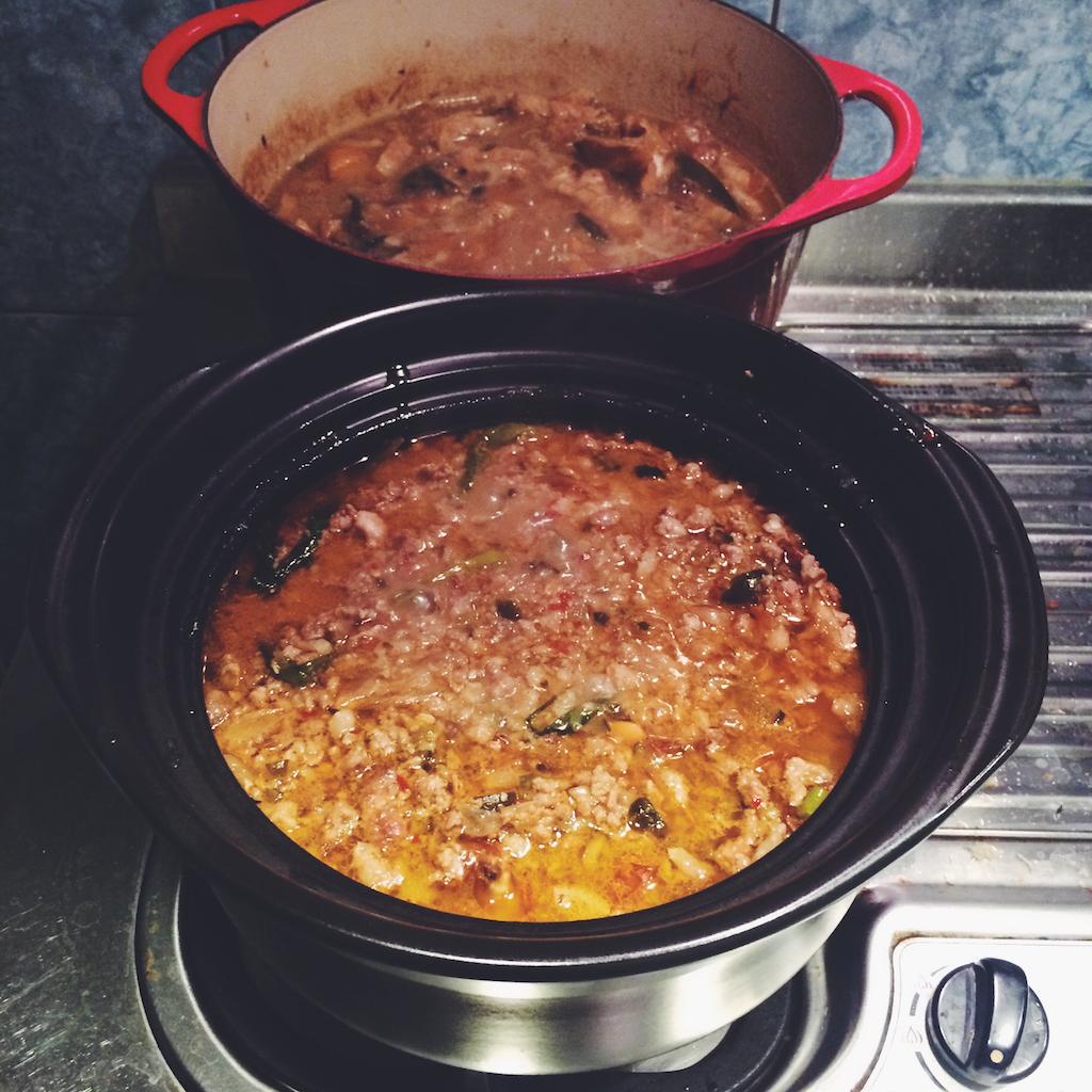 滿滿的兩大鍋!