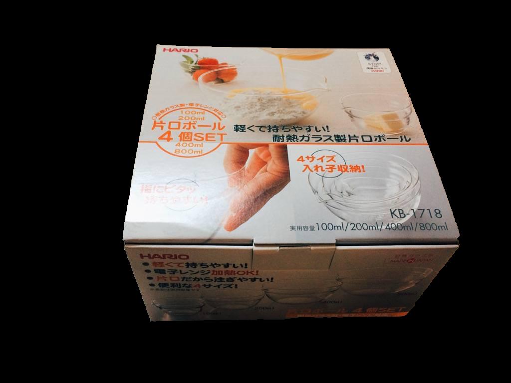 Hario玻璃調理碗(4入) $680
