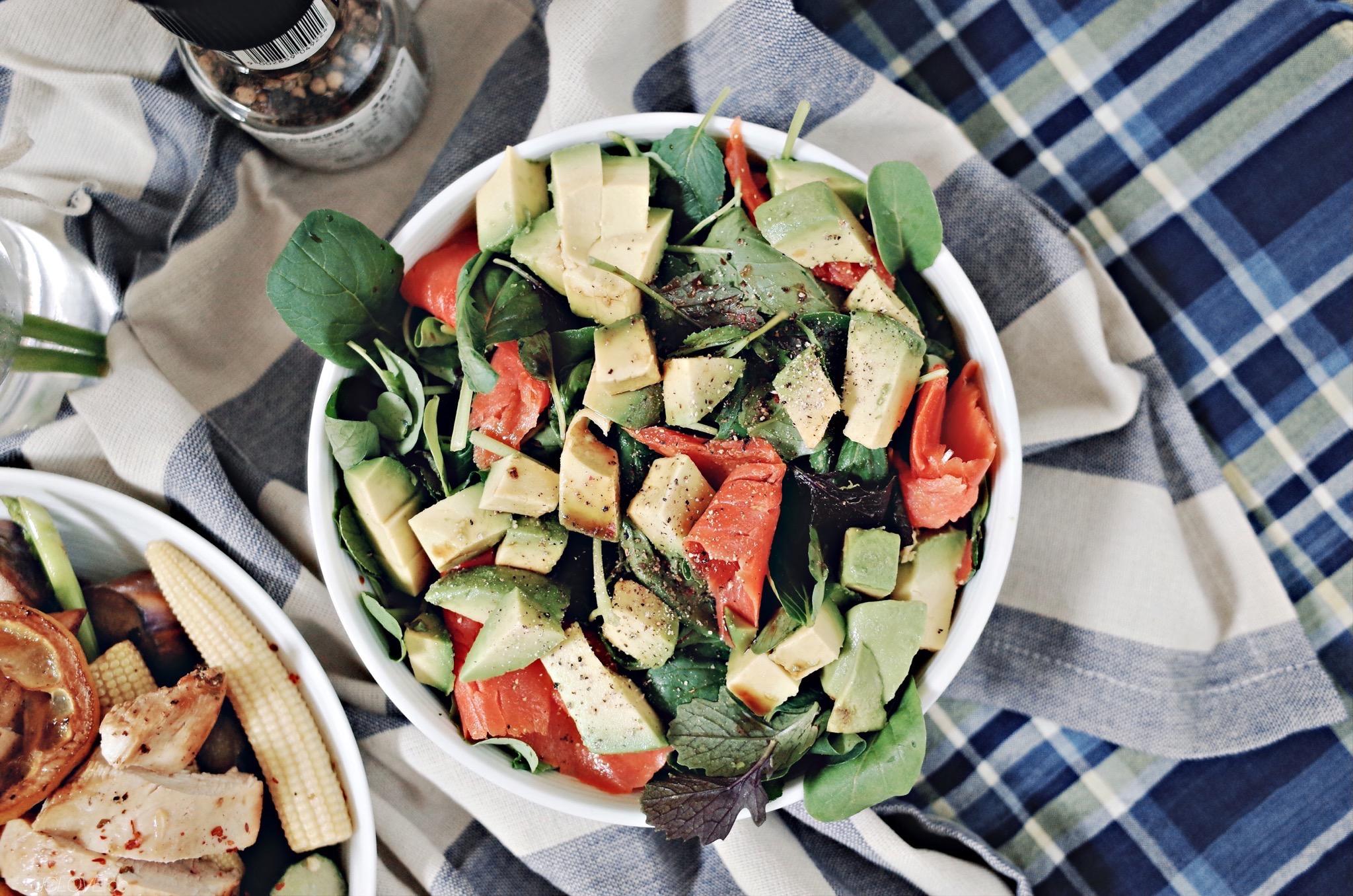 鮭魚酪梨貝比生菜