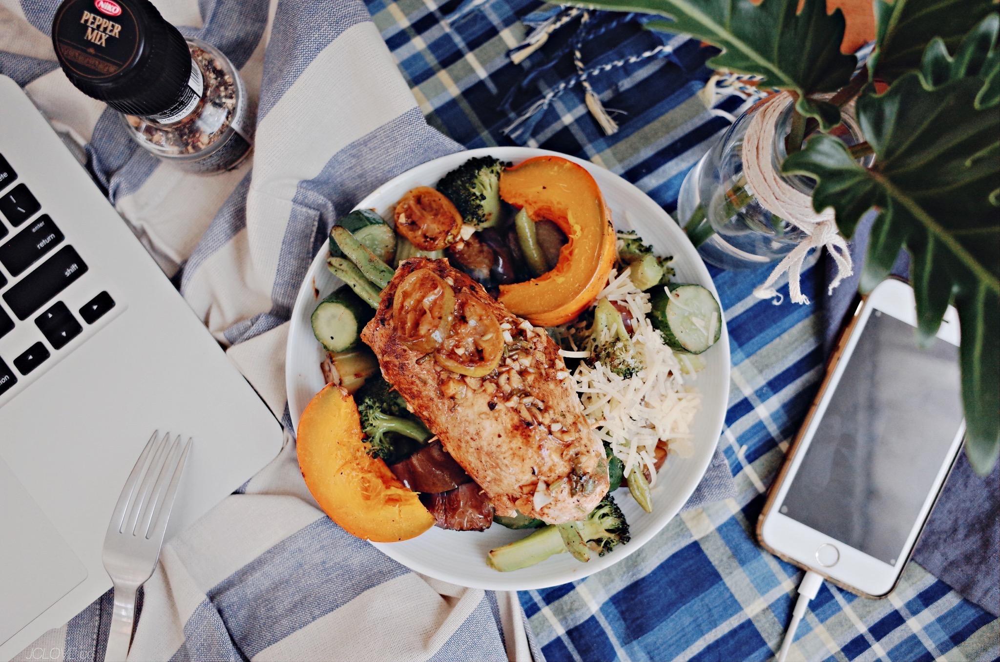 低碳午餐02 - 金桔檸檬大蒜雞胸肉蔬菜捲