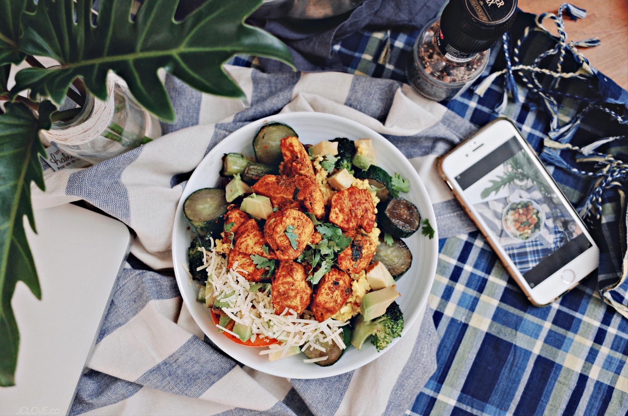 低碳午餐03 - 馬薩拉雞胸肉椰漿藜麥飯