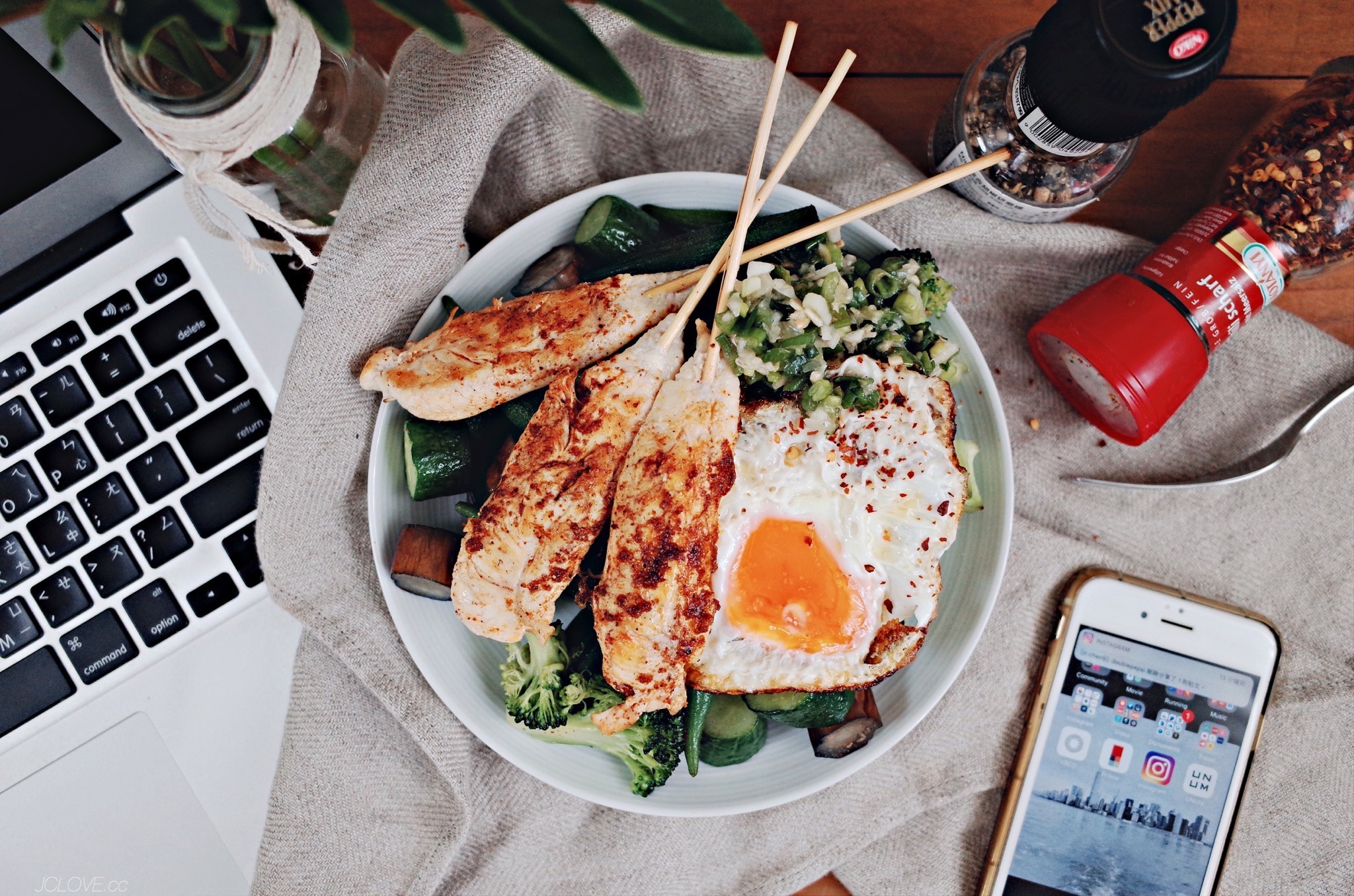 蔬菜雞柳MASALA佐油蔥醬