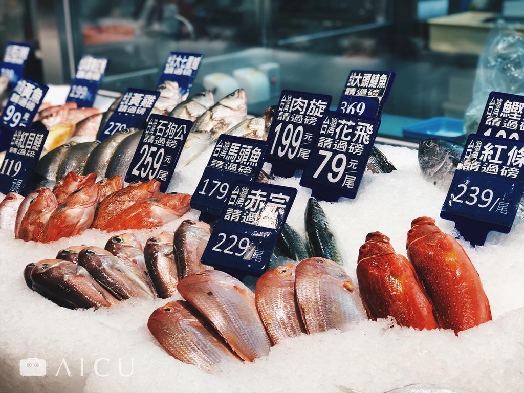 這天去,魚鮮也還不錯。台灣買牛肉日益方便,但奇妙的是想買到好魚卻很困難。
