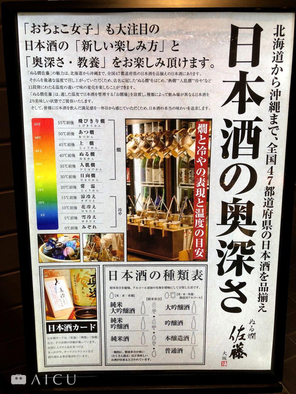 日本酒的分類不只精米度,更要搭配溫度和食材。