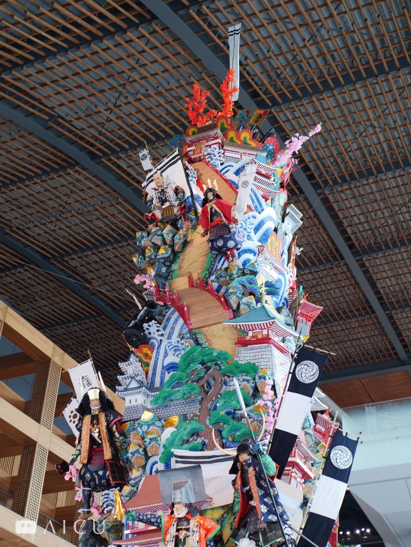 九州國立博物館 - 高聳的山車,主題是黑田長政,但根本就是立體的3D故事書啊。