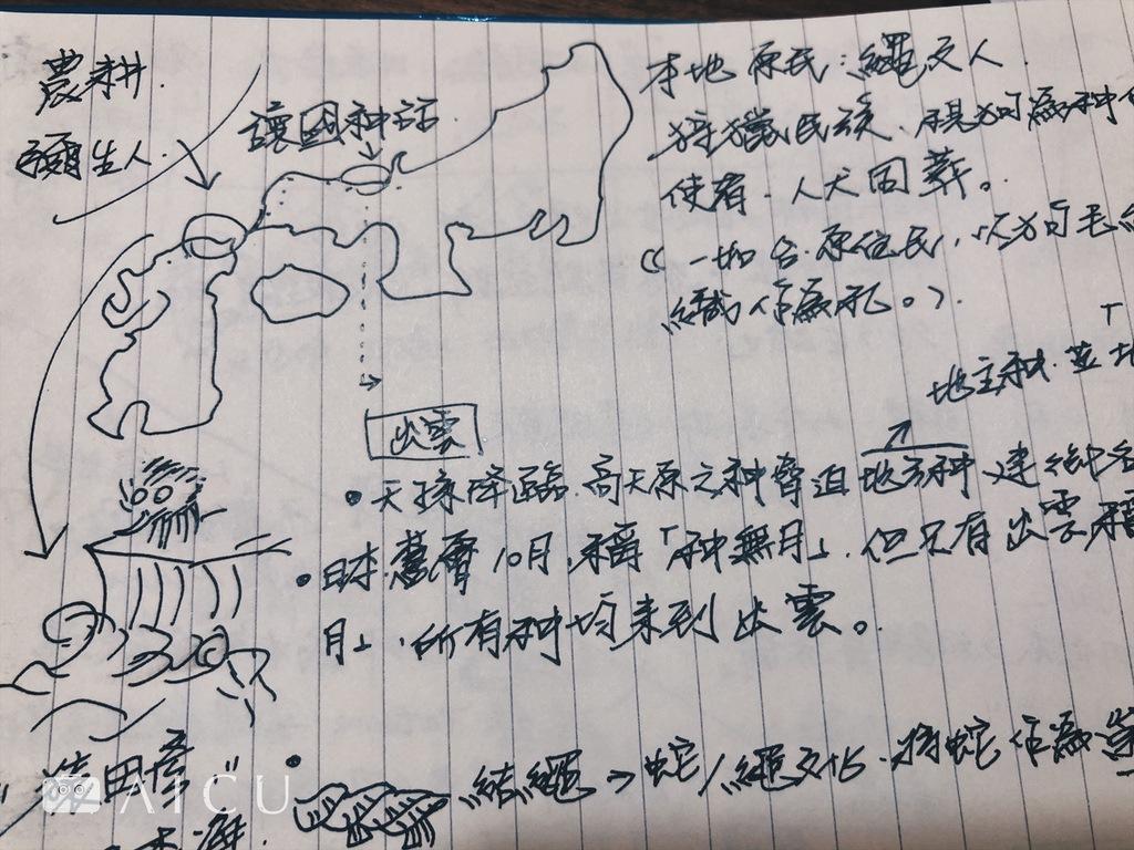 執行長很認真的為同學開發新課程筆記之一。