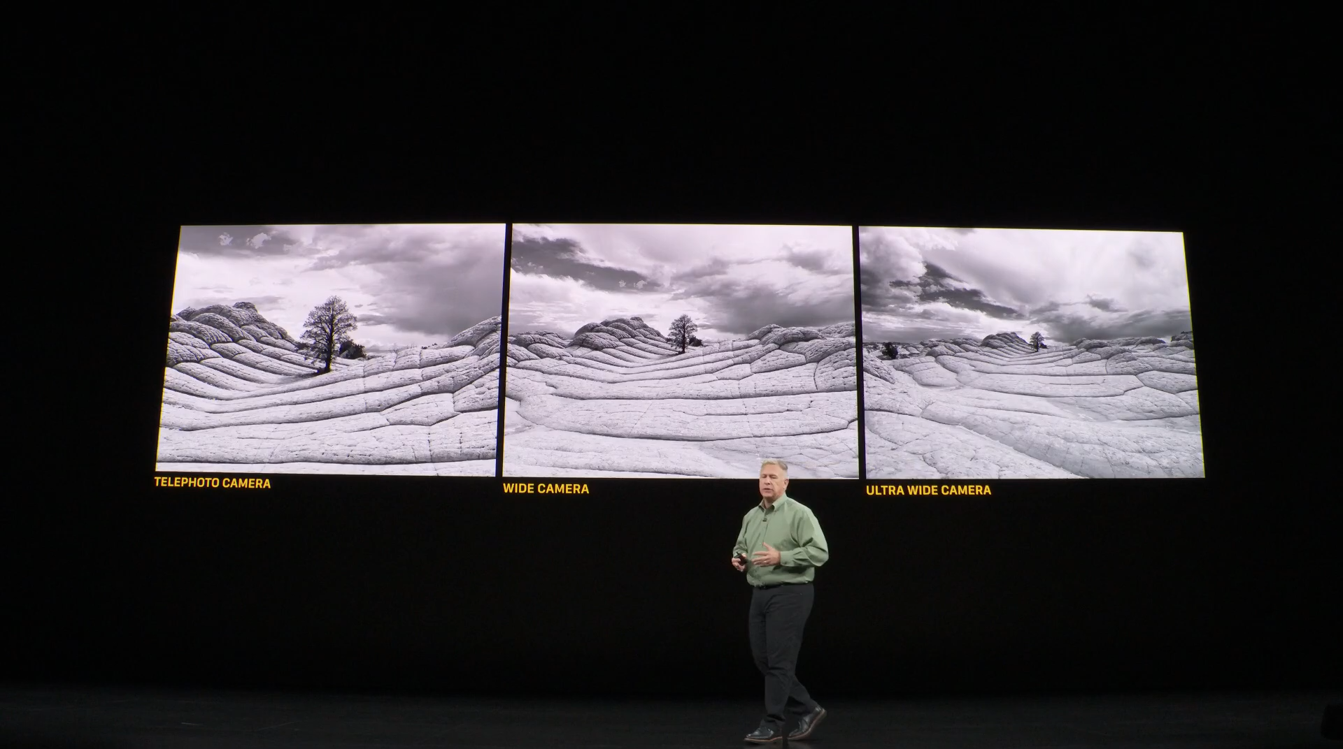 iPhone11 pro追加了超廣角鏡頭,左至右讓手機更貼近專業相機,接著你就要再花錢買更好的APP。