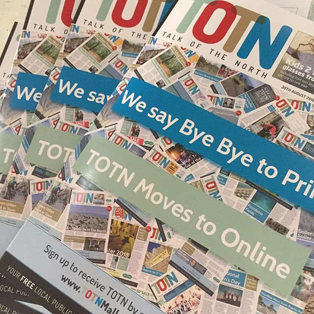 TOTN Thursday the last print version being delivered now. We make the move online. Link in the bio. #byebyeprint #helloonline #itsnottheend #thankyou