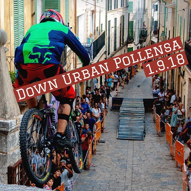 If you're in #Pollensa today enjoy #downurbanpollença. You can't miss it. #crazy #adrenalinejunkie #extremebike