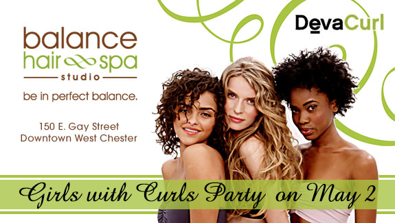Girls with Curls Party at Balance Hair Spa in West Chester, PA