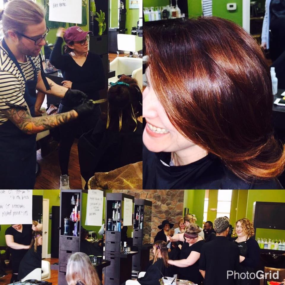 Mark Debolt at Balance Hair Spa for a hands on Winter Color Class.