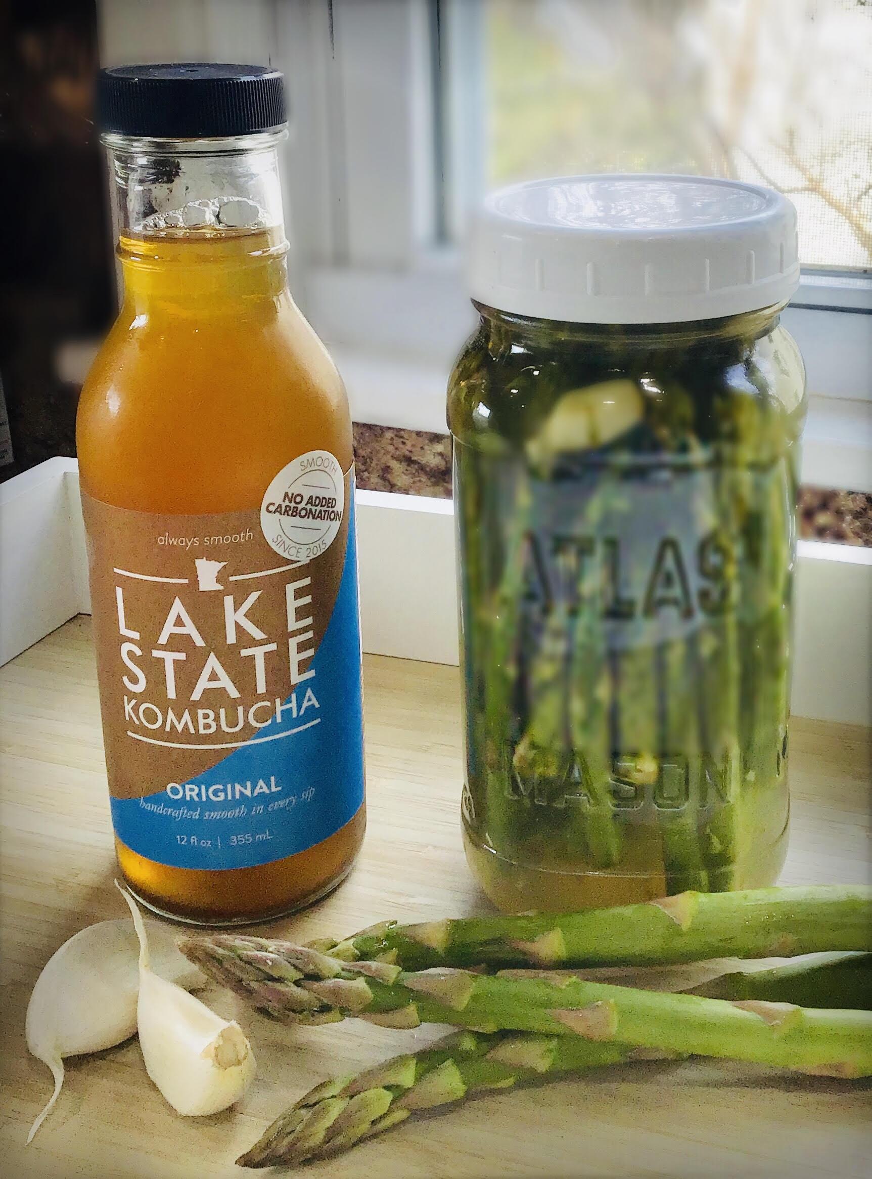 Lake State's Kombucha Fermented Asparagus