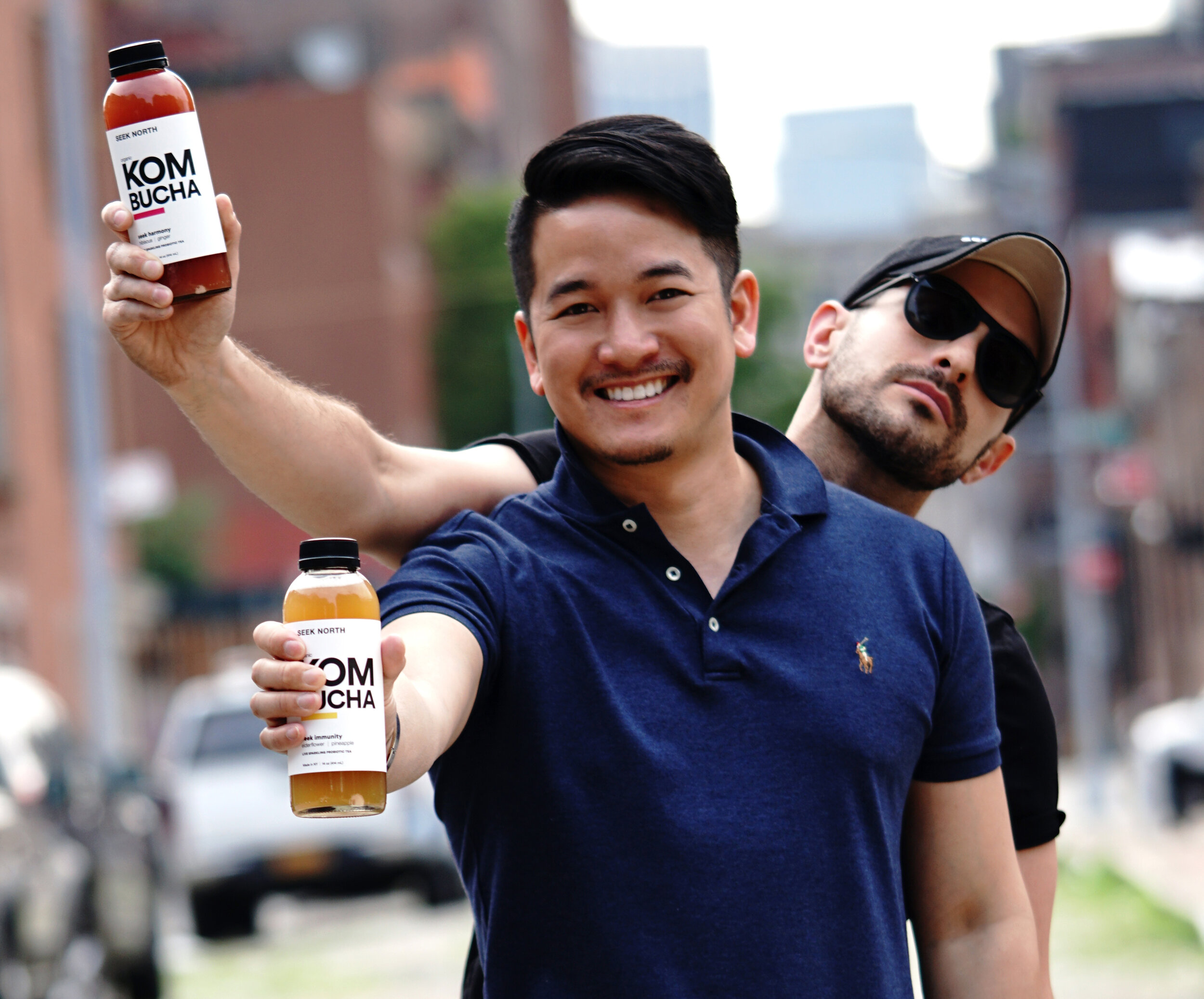 Co-founders: Philippe Trinh (front) & Julian Lesser (back)