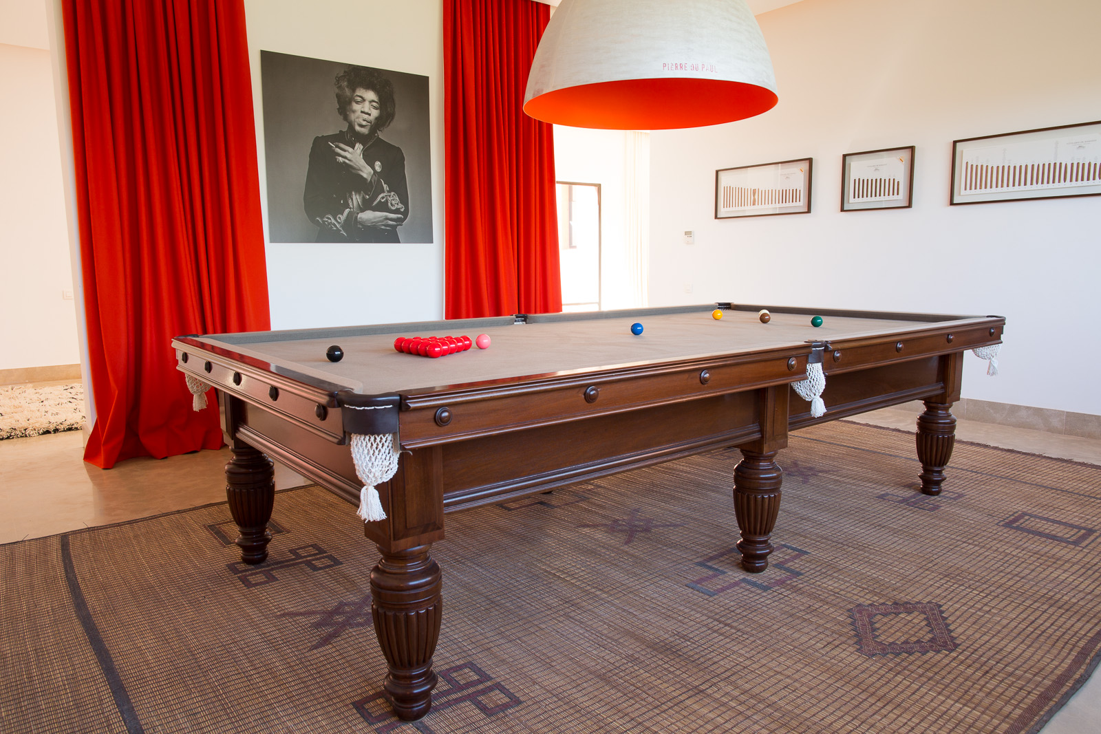Billiard room  - with 3/4 size English table