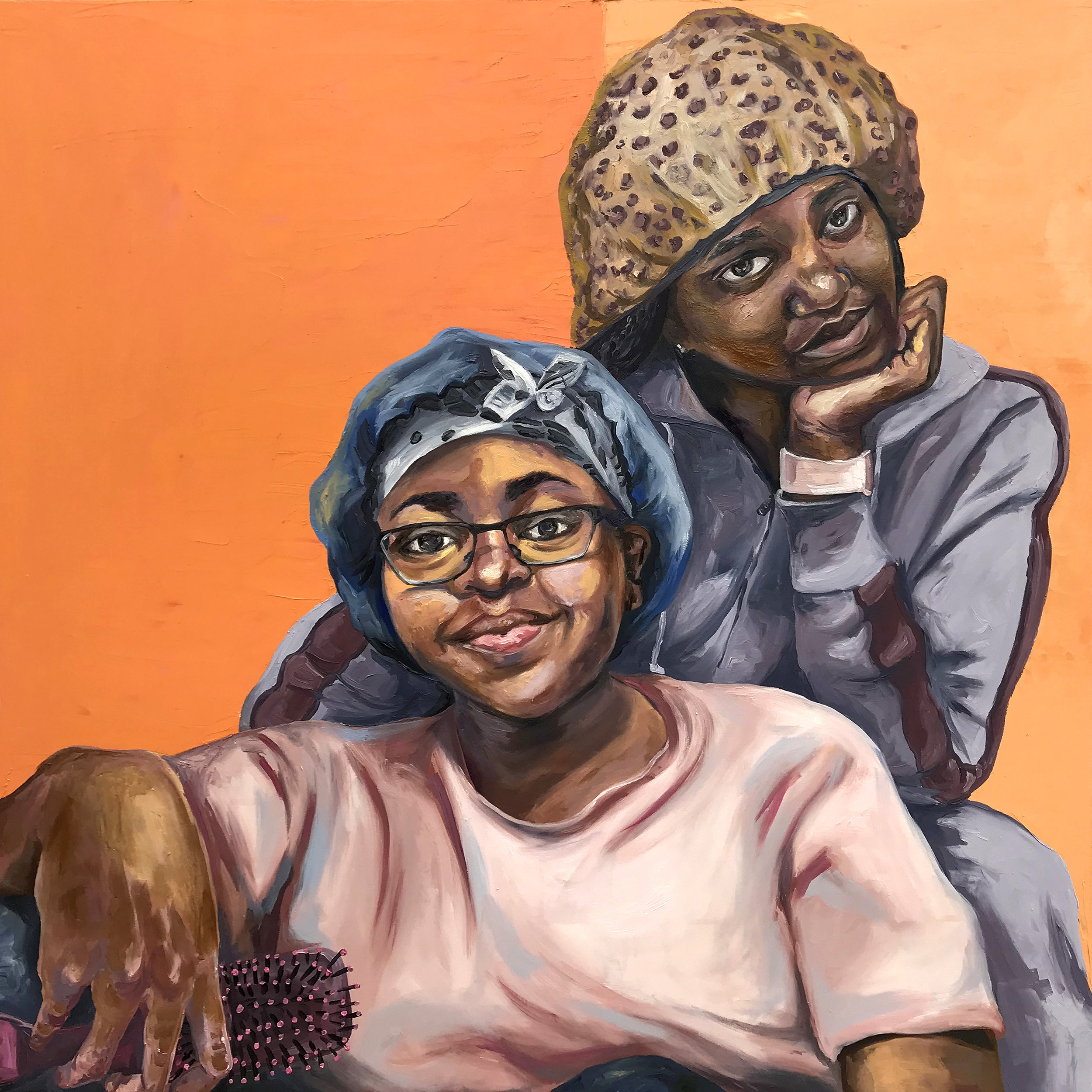 Before I Lay  | oil on wood panel | 36 x 36 inches | 2018 | The Colored Girls Museum