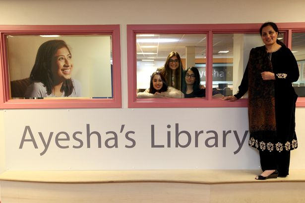 Ayesha Ahmed, Wegener's Disease sufferer, has a library named after her