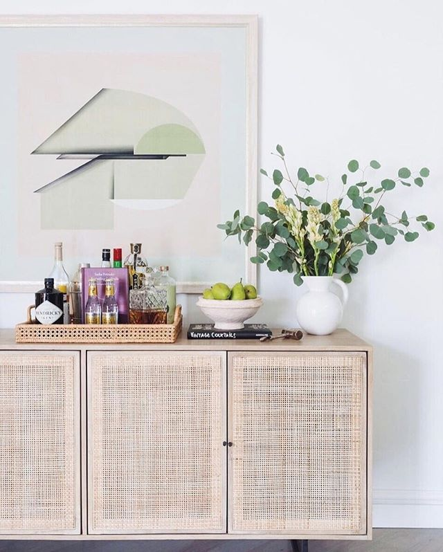 Spring styling featuring the @FourHandsFurniture Carmel Sideboard Photo: @amybartman Style: @whitneycampeau