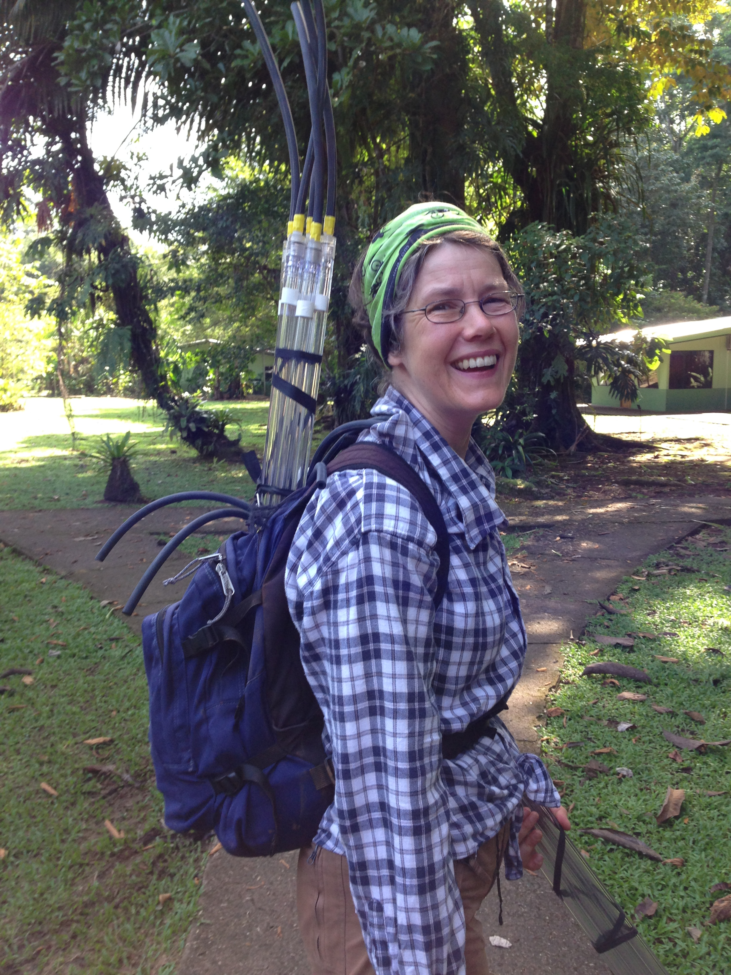 Dr. Luitgard Schwendenmann, University of Auckland, New Zealand   Luitgard brings with her years of experience studying soil carbon dynamics at La Selva. She is also the project lysimeter guru and will be examining carbon losses, especially in dissolved organic and inorganic forms.