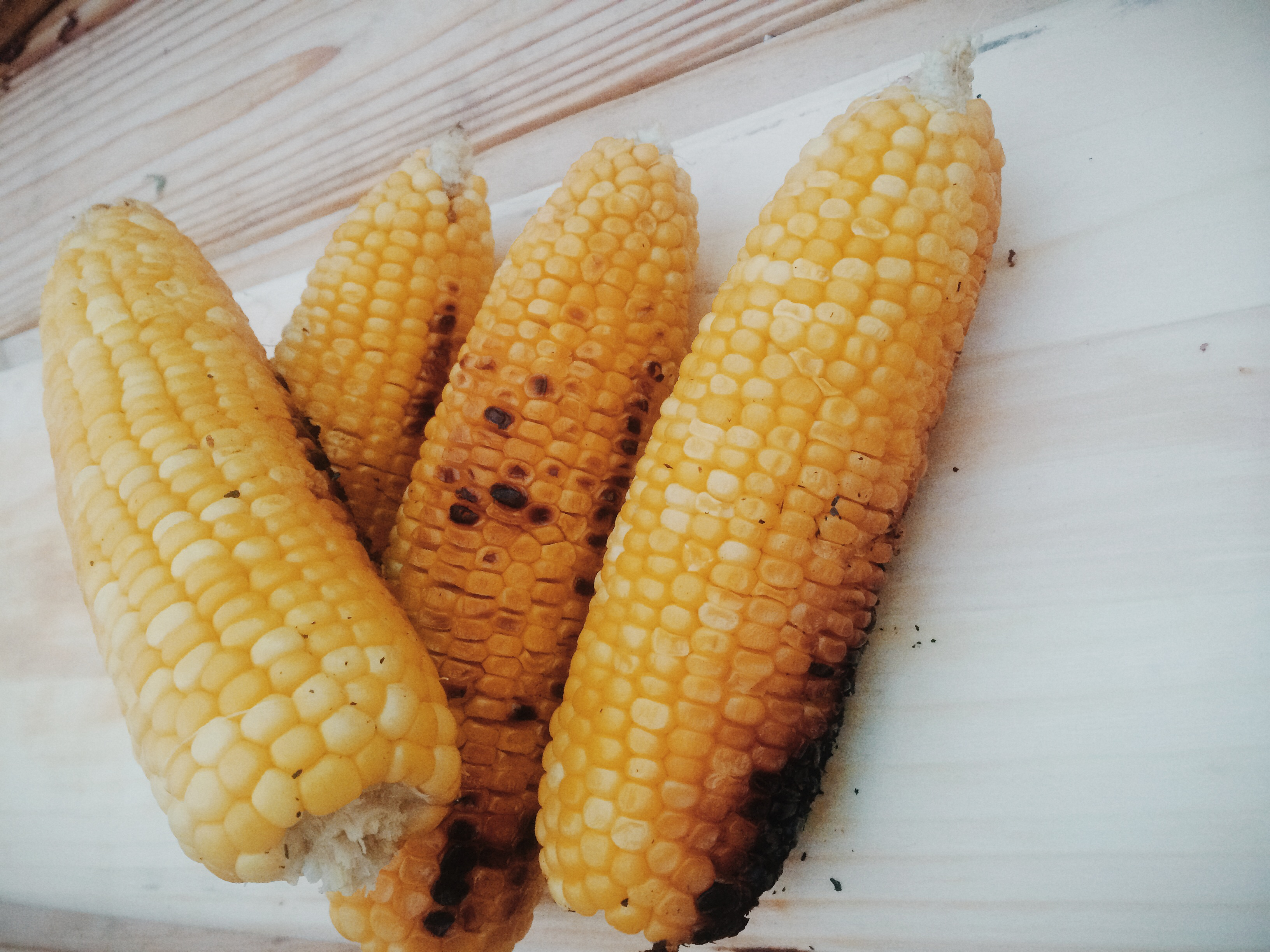 Grilled corn.