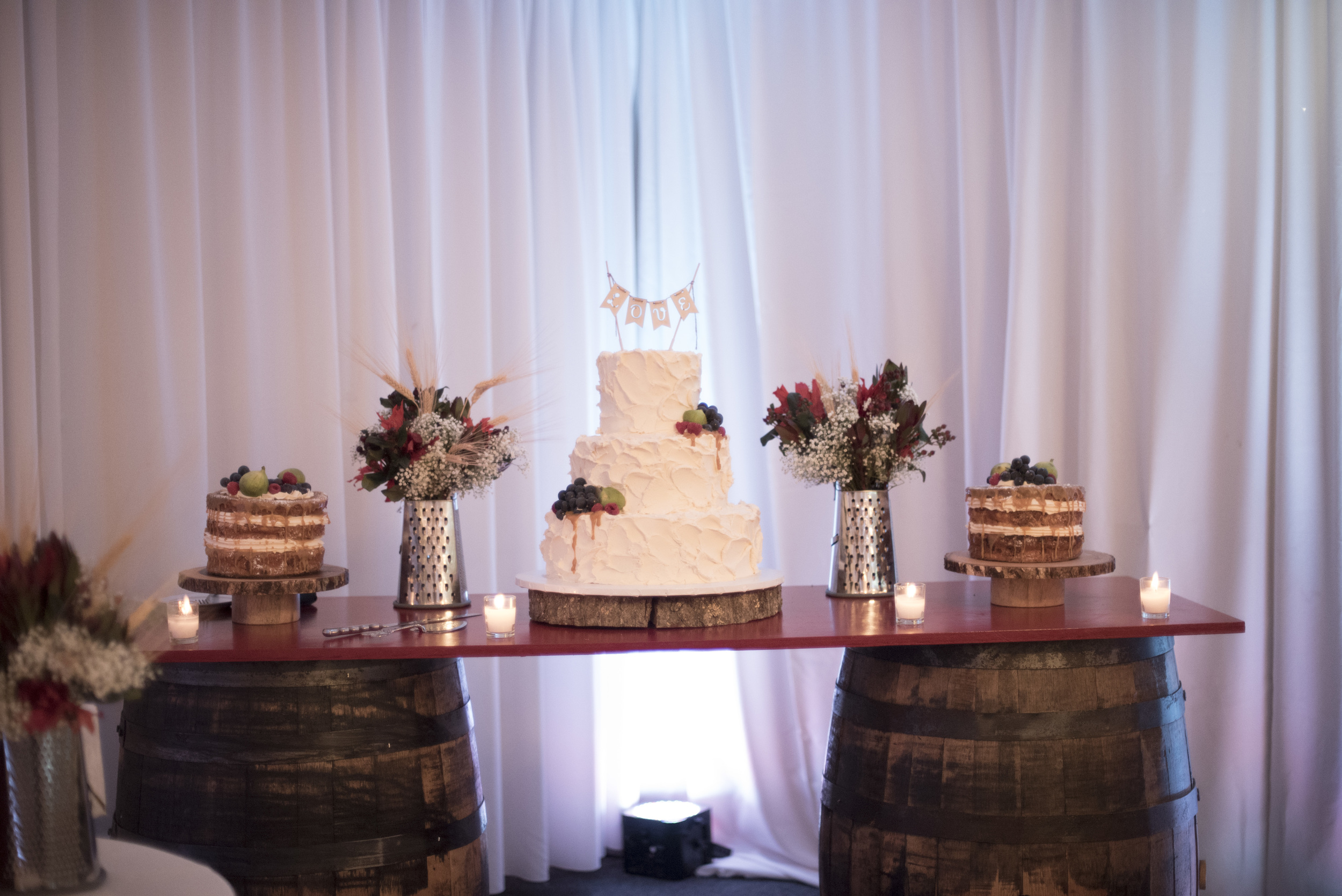 All cakes, favors, planning, and venue decor by  2SweetLLC .