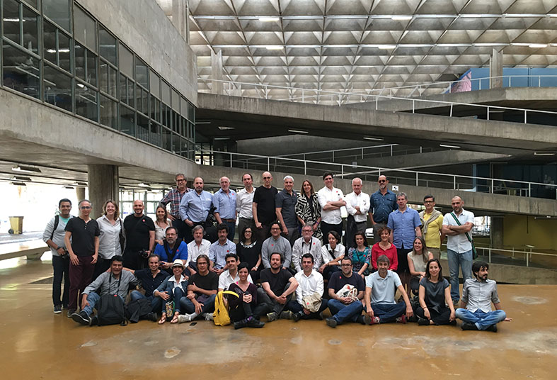 Curators and winners of the X Ibero-American Biennale at the FAU-USP