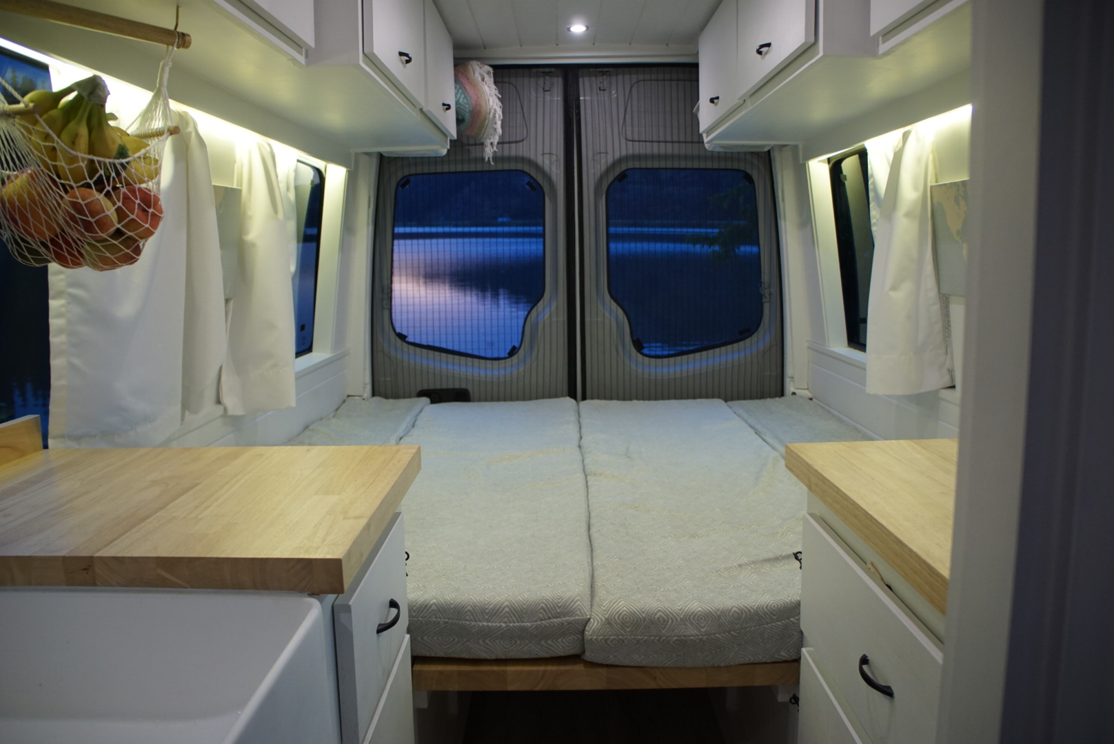 40 hours of freedom sprinter conversion van bed