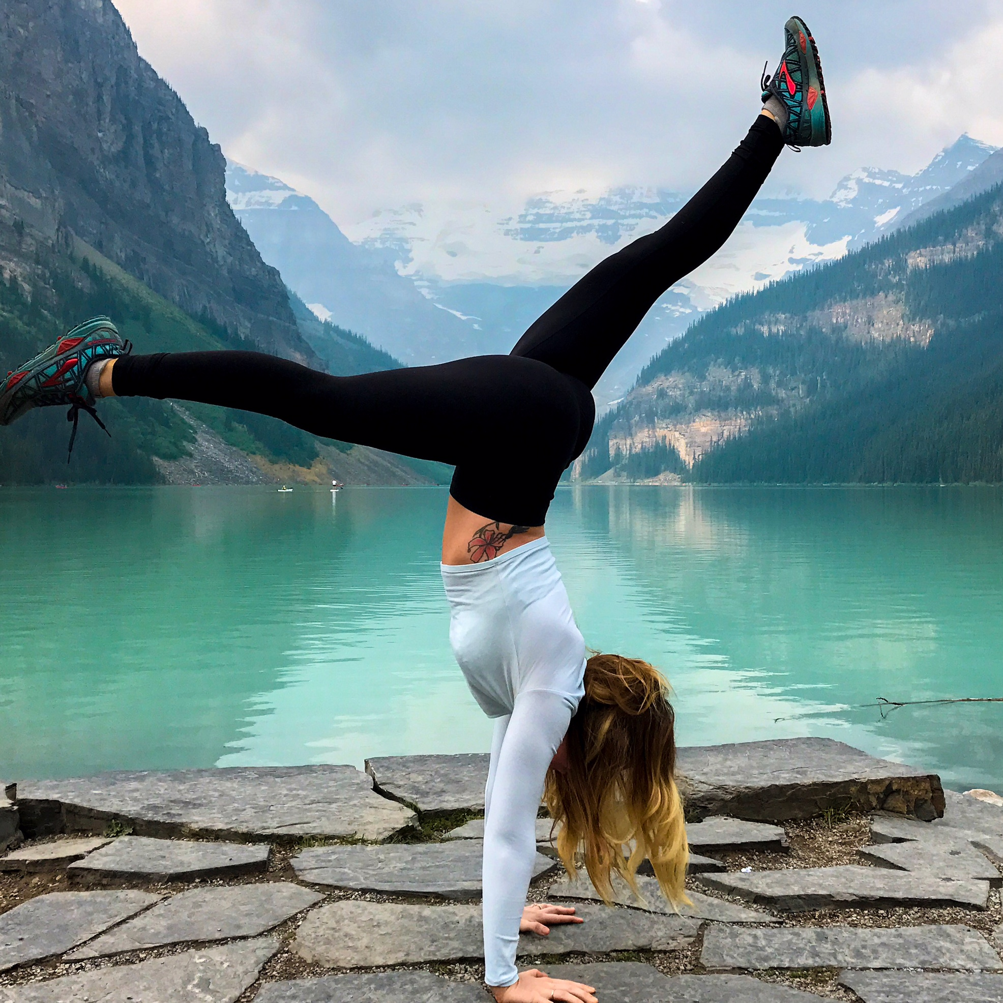 40 hours of freedom sara james handstand lake louise