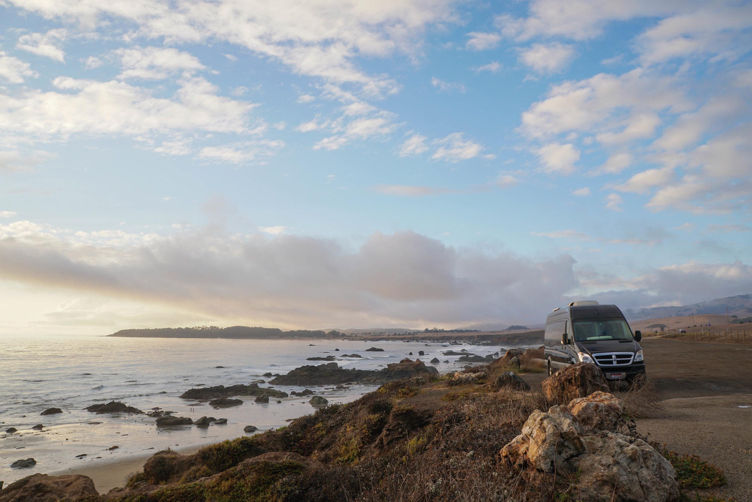 San Simean Sunset Van 40 hours of freedom vanlife.jpg