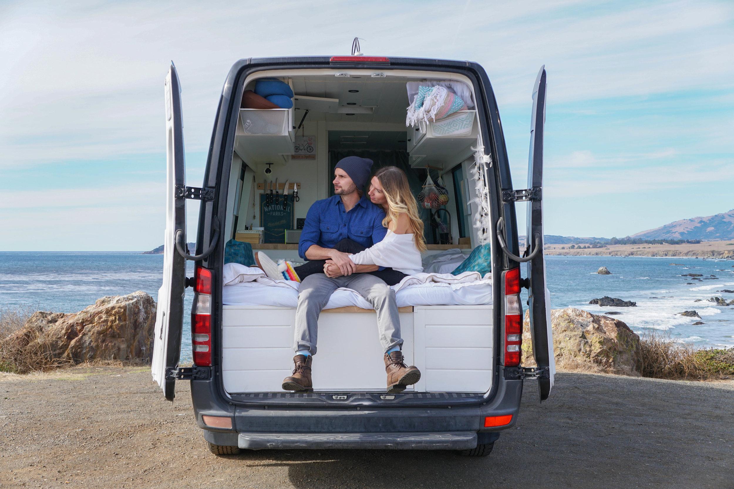 Alex & Sara San Simeon Back of Van.jpg