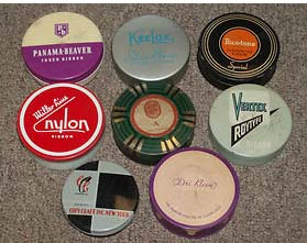 Some ribbon tins