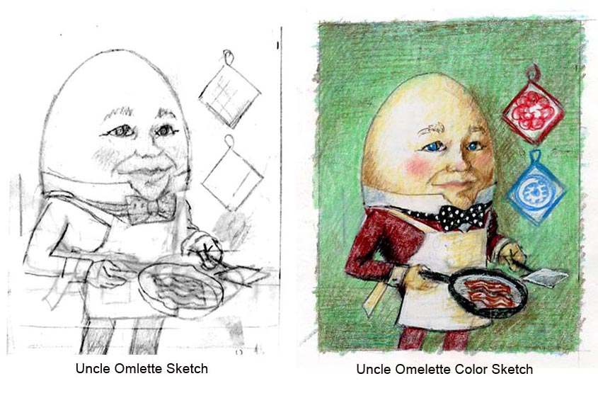 Uncle Omelette Sketches. Lisa Zador